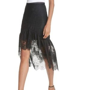 Triss High/Low Lace Skirt